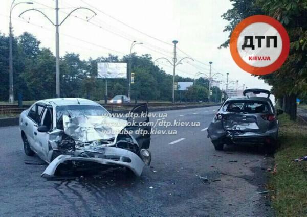 Утренняя авария в Киеве