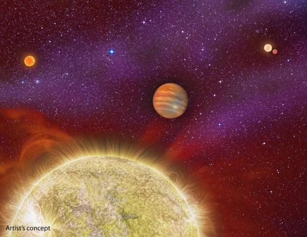 Иллюстрация планеты 30 Ari Bb