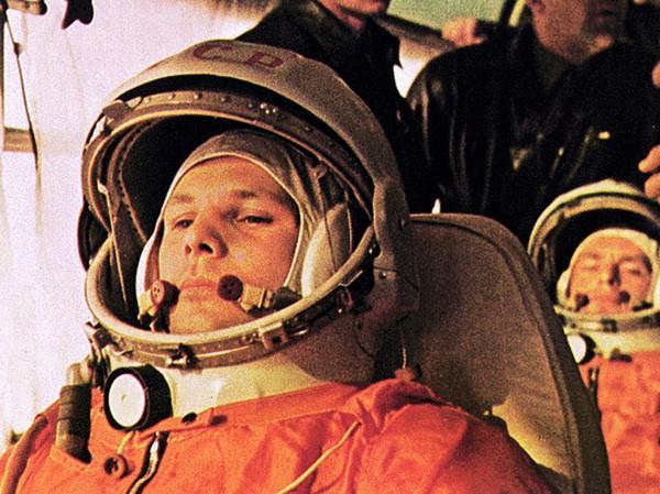 Первый космонавт на тренировке