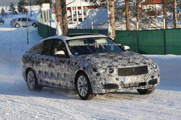Замаскированный BMW 3-Series GT на тестах