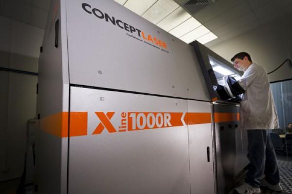 3D-принтер печатает металлом