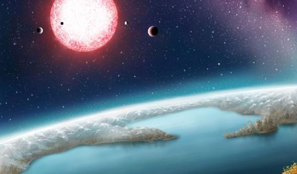 Экзопланета земного типа в представлении художника