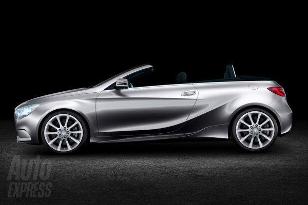Неофициальная иллюстрация кабриолета Mercedes A-Class
