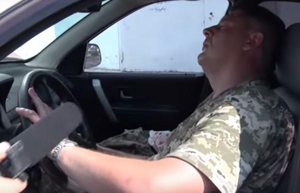 Офицер был пьян