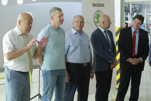 Москаль на презентации производства Skoda Superb