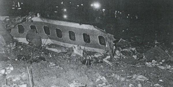 Самолет после катастрофы