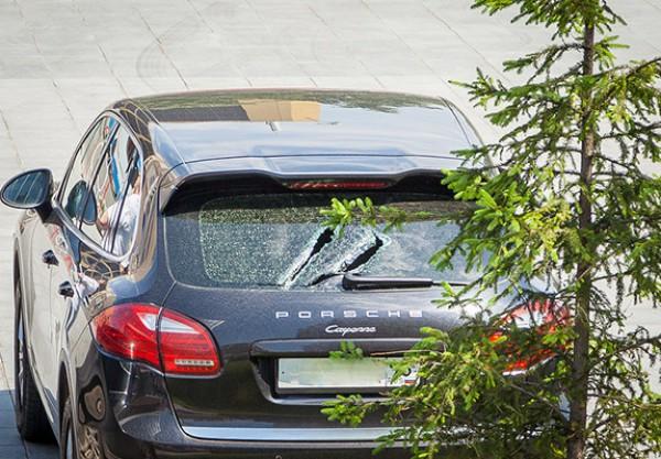 Разбитый Porsche Cayenne