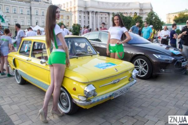 Старт электромарафона в Киеве