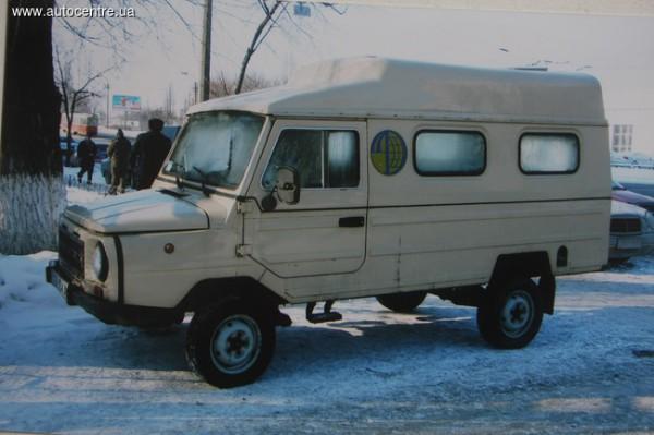Длиннобазный ЛуАЗ в Киеве