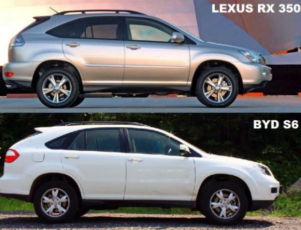 Профиль Lexus RX и BYD S6