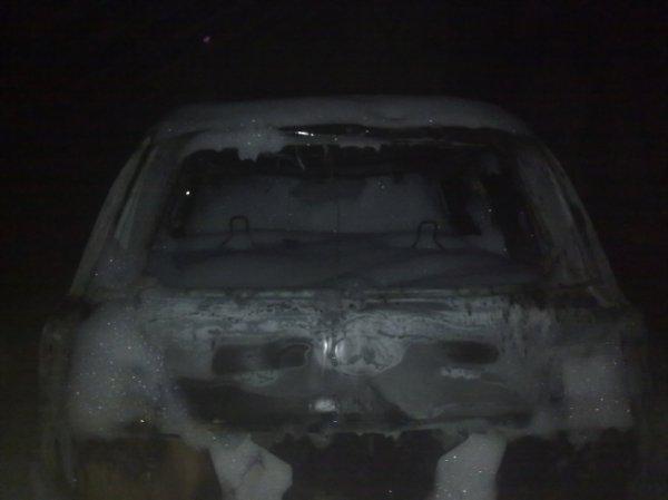 Сгоревший Lexus