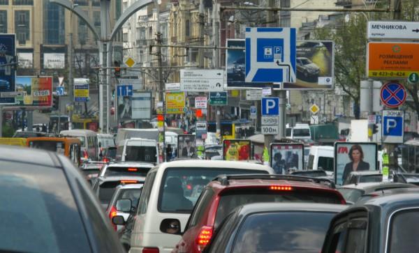 Создан видеоролик о пробках в Киеве