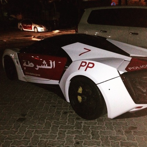 Арабский суперкар на службе полиции