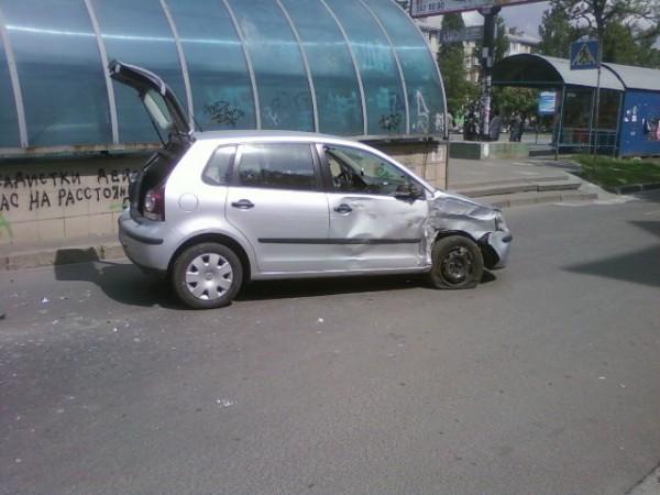 Разбитый Volkswagen