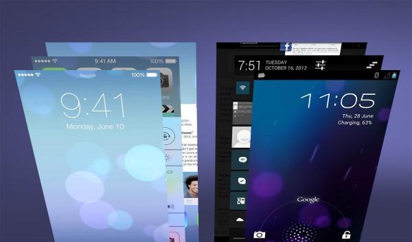 Сравнение рабочих столов Android 4.0 и iOS 7.0