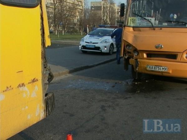 Авария автобусов в Киеве