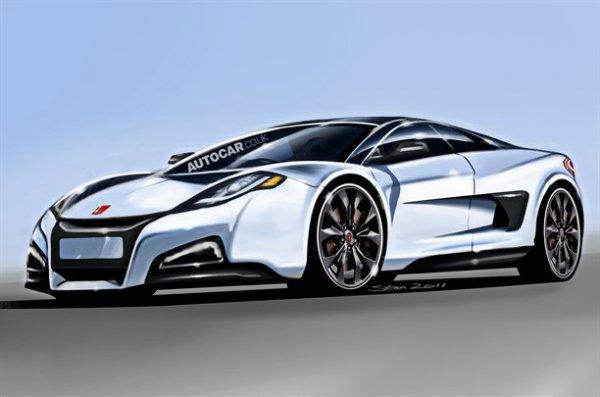 Неофициальная иллюстрация нового Honda (Acura) NSX