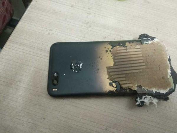 Взорвавшийся смартфон
