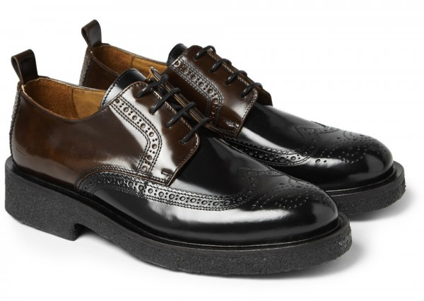 Ami two-toned polished leather brogues - 8 тысяч гривен