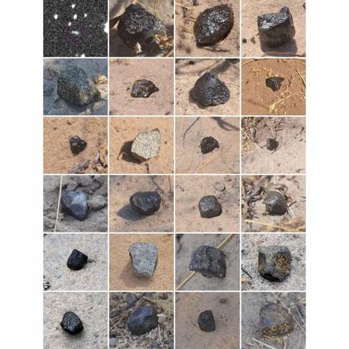 Разные фрагменты астероида 2018 LA