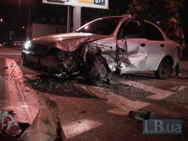 Авария Daewoo в Киеве