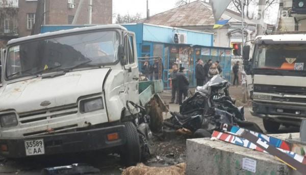 В аварии разбиты четыре машины