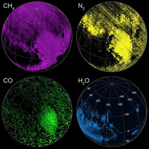 Спектральный анализ Плутона. Концентрация элементов в составе атмосферы