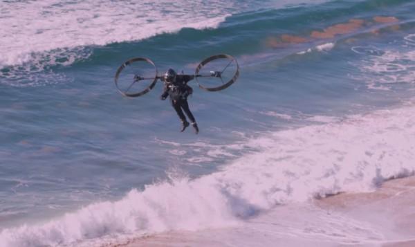 Полет над пляжем