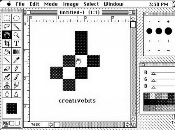 Интерфейс первого Фотошопа