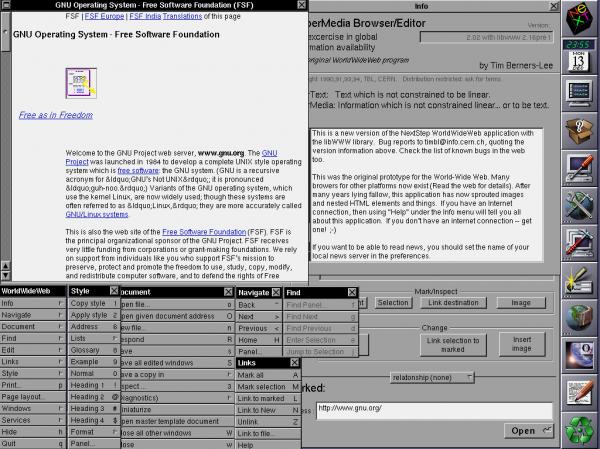 Один из первых браузеров