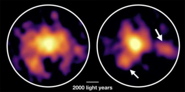 В галактике огромное скопление угарного газа