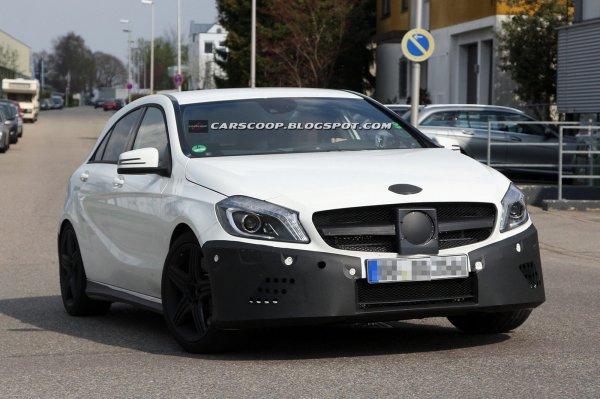 «Заряженный» Mercedes A-Class на тестах