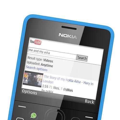Nokia Asha 210 - встроенное приложения для просмотра Youtube