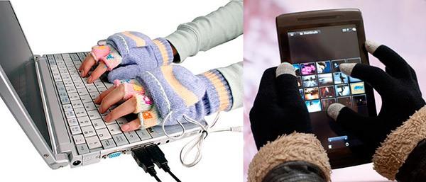Перчатки с подогревом и сенсорные перчатки