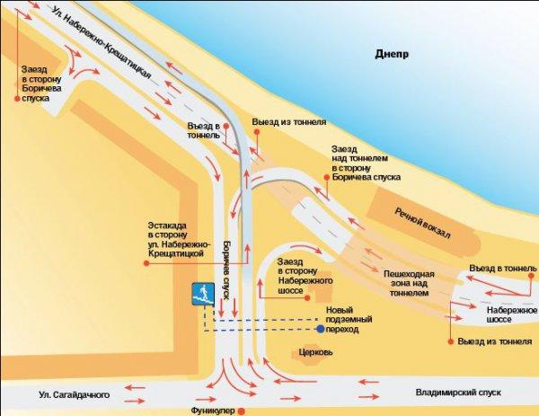 Проект Киевдормостпроекта - такой будет развязка, если решение не поменяют