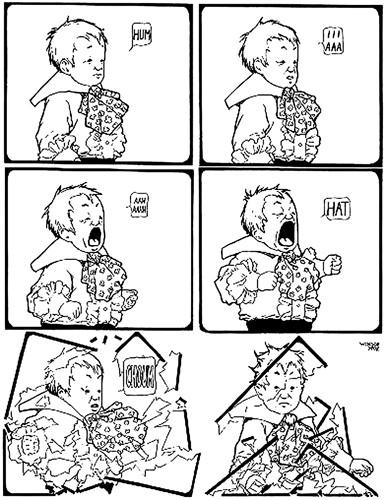 Один из первых комиксов