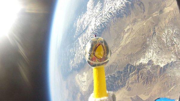 Курица-космонавт долетела до стратосферы