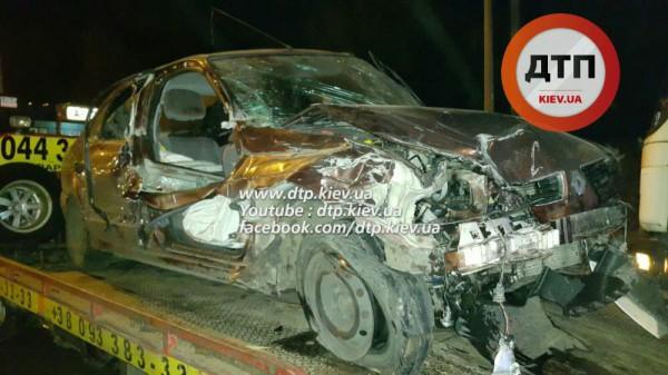 Авария Renault и Porsche в Киеве