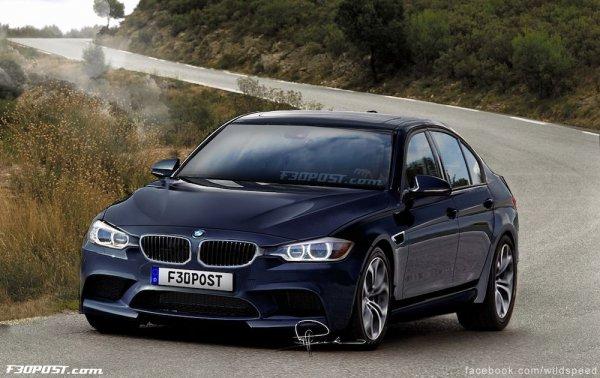Неофициальная иллюстрация седана BMW M3 (F80)
