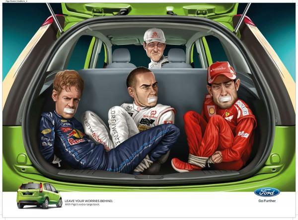 Шумахер похищает коллег-гонщиков