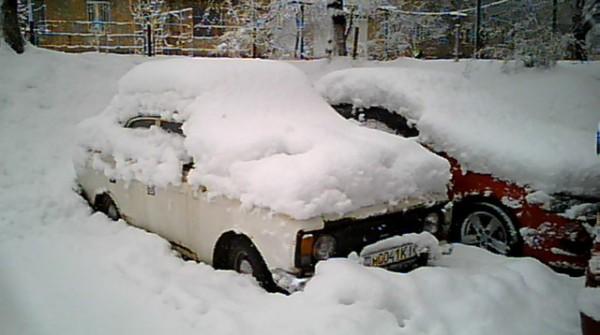 Последствия снегопада в Киеве в прошлом году
