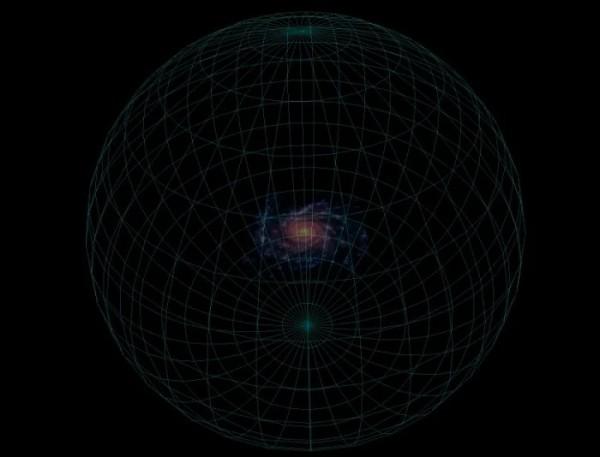 Принципиальная схема гало темной материи нашей галактики.