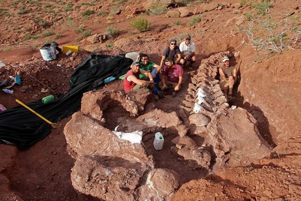 Археологи на месте раскопок