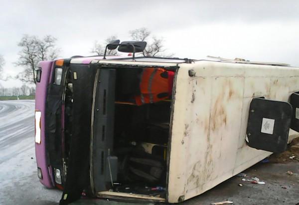 В автобусе погибли двое