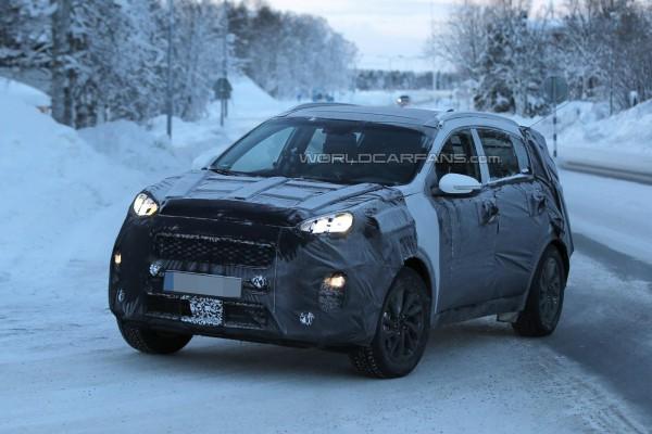 Kia Sportage на зимних тестах