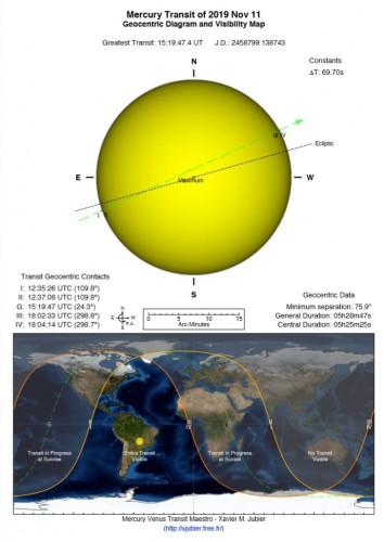 Где и как можно увидеть Меркурий