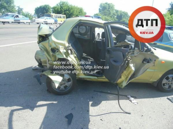 Серьезная авария под Киевом