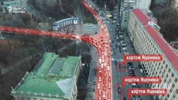 Схема перекрытия дороги
