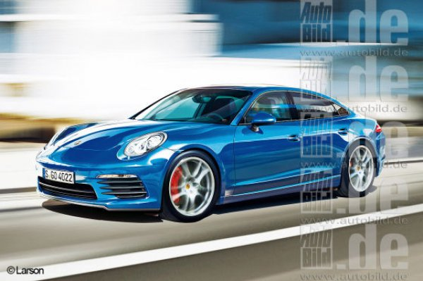 Иллюстрация Porsche Pajun от Auto Bild