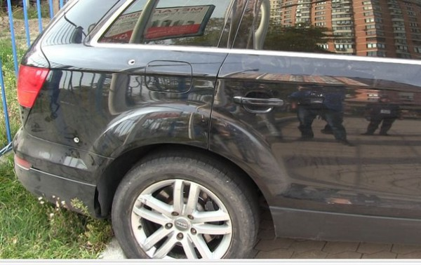 Простреленая машина
